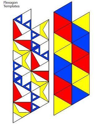 Hojas de Arte - ORIGAMI - Flexagonos M puzzle Pinterest Math - hexaflexagon template