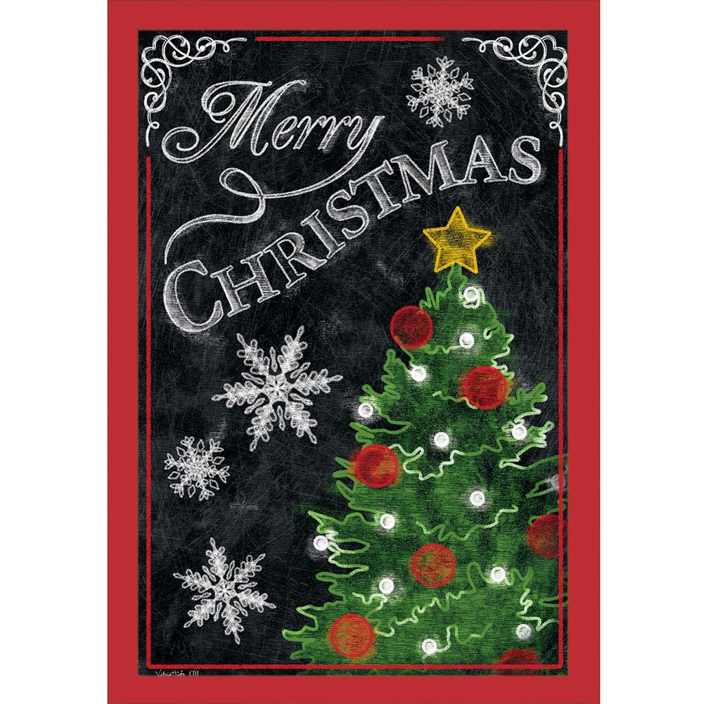 Christmas Tree Yard Flag Personalized Garden and House Flag for Christmas