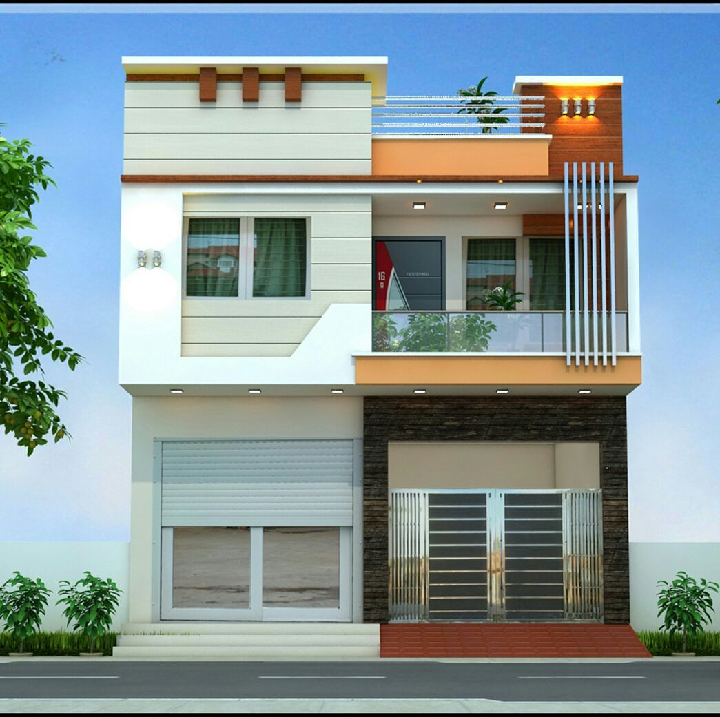 Modern Home Design For 31 Feet By 49 Feet Plot House Front