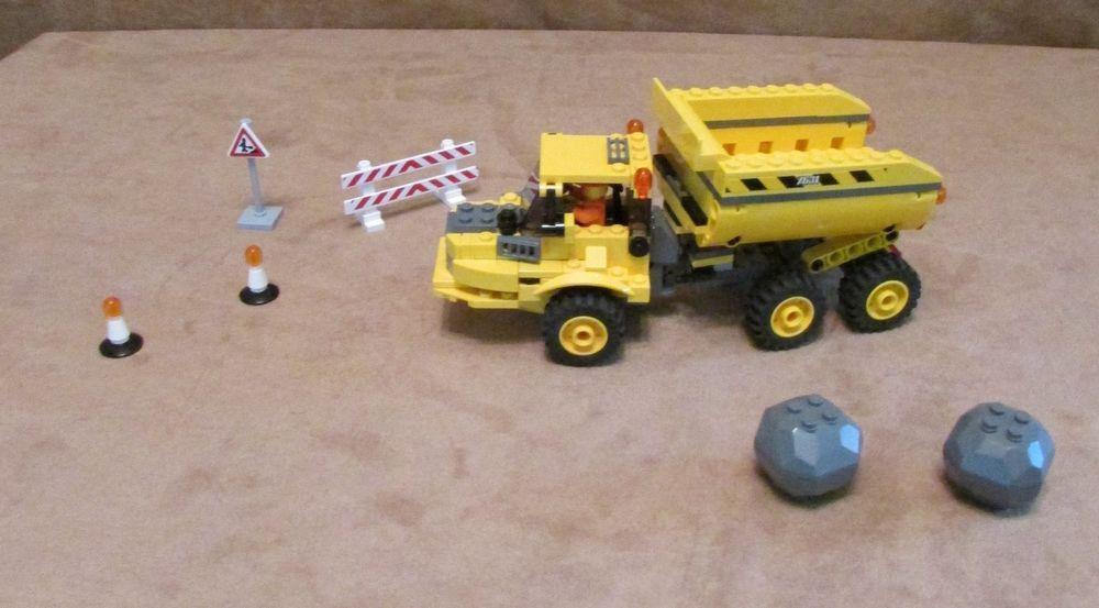 7631 Lego City Construction Dump Truck Complete Town Site Center