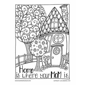 Adult Coloring Pages Mothers Day Coloring Pages