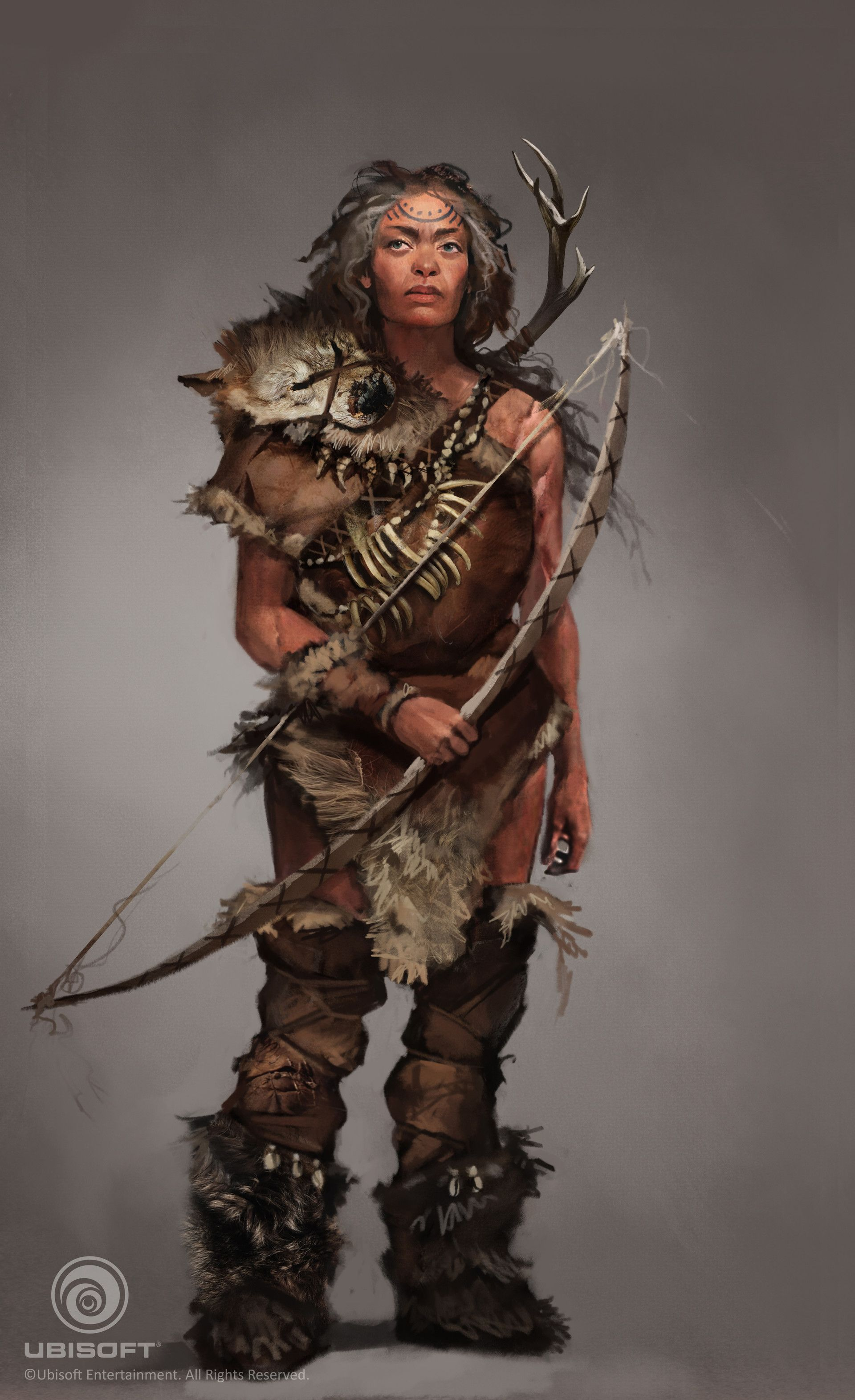 elder female ranger hunter native tribal character concept, Naomi Savoie