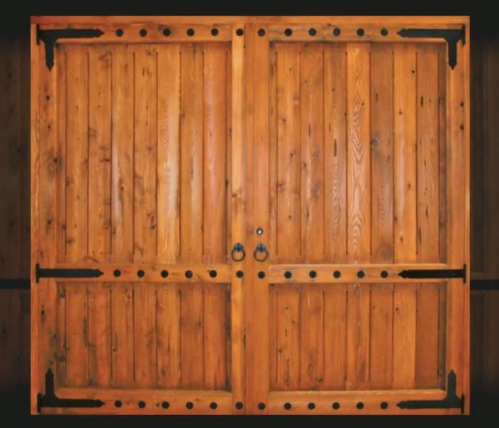 Large Barn Door With Strap Hinges