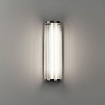 Trendige LED Spiegelleuchte Versailles in chrom, Länge 400 mm, inkl