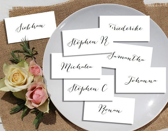 Printable Wedding Name Cards, Wedding Place Cards, Wedding Table - wedding card template