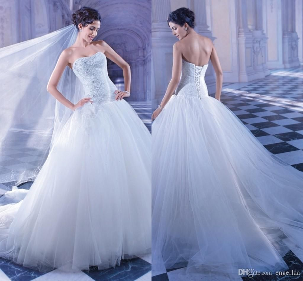 Strapless ball gown wedding dresses  Beautiful Strapless Ball Gown Wedding Dresses Corset Bodice With