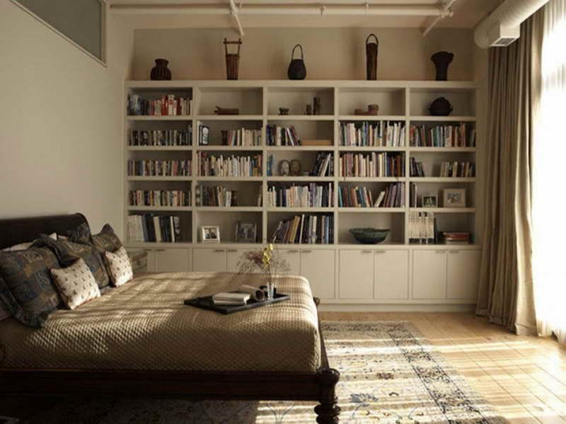 Bedroom bookshelves wall shelves ideas full wall - Bedroom wall shelves decorating ideas ...