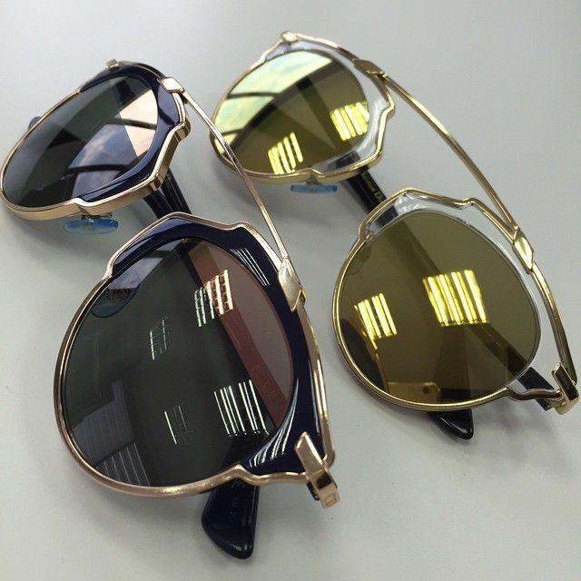 Olha o que acaba de chegar nas Óticas Wanny! As novas cores Navy e Gold do  Dior Soreal!  vem  buscar  o  seu  oculos  de  sol  so  real  sunglasses   rose ... ce46ebcb13