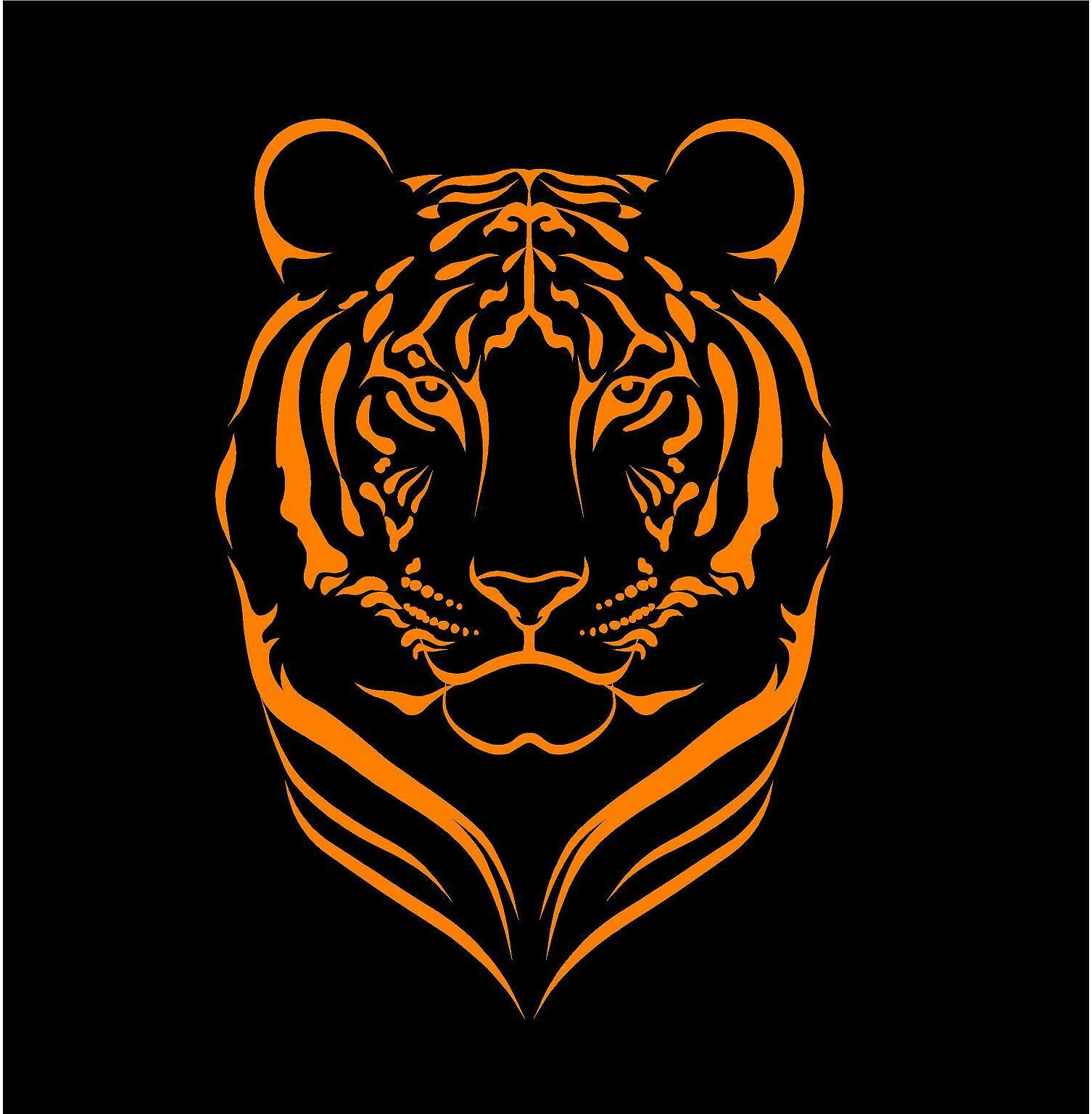 tiger 04 vinyl car sticker decal window oracal 651
