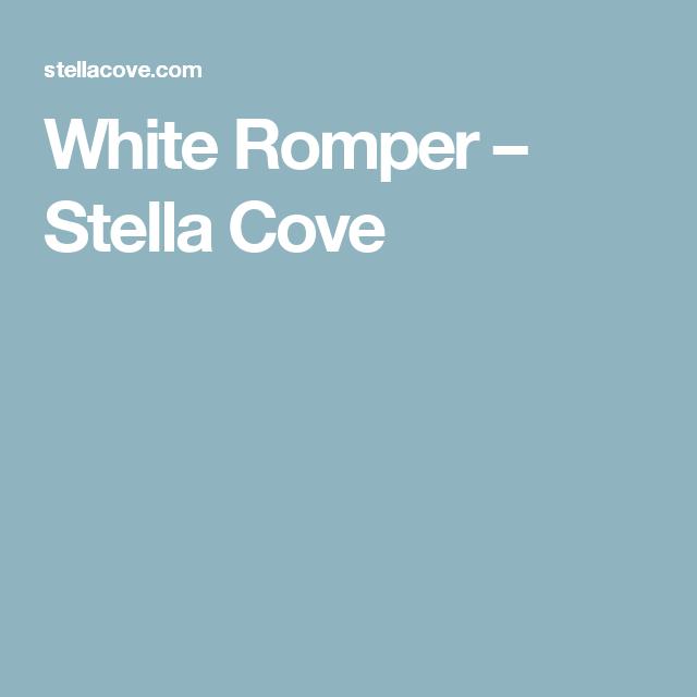 White Romper – Stella Cove