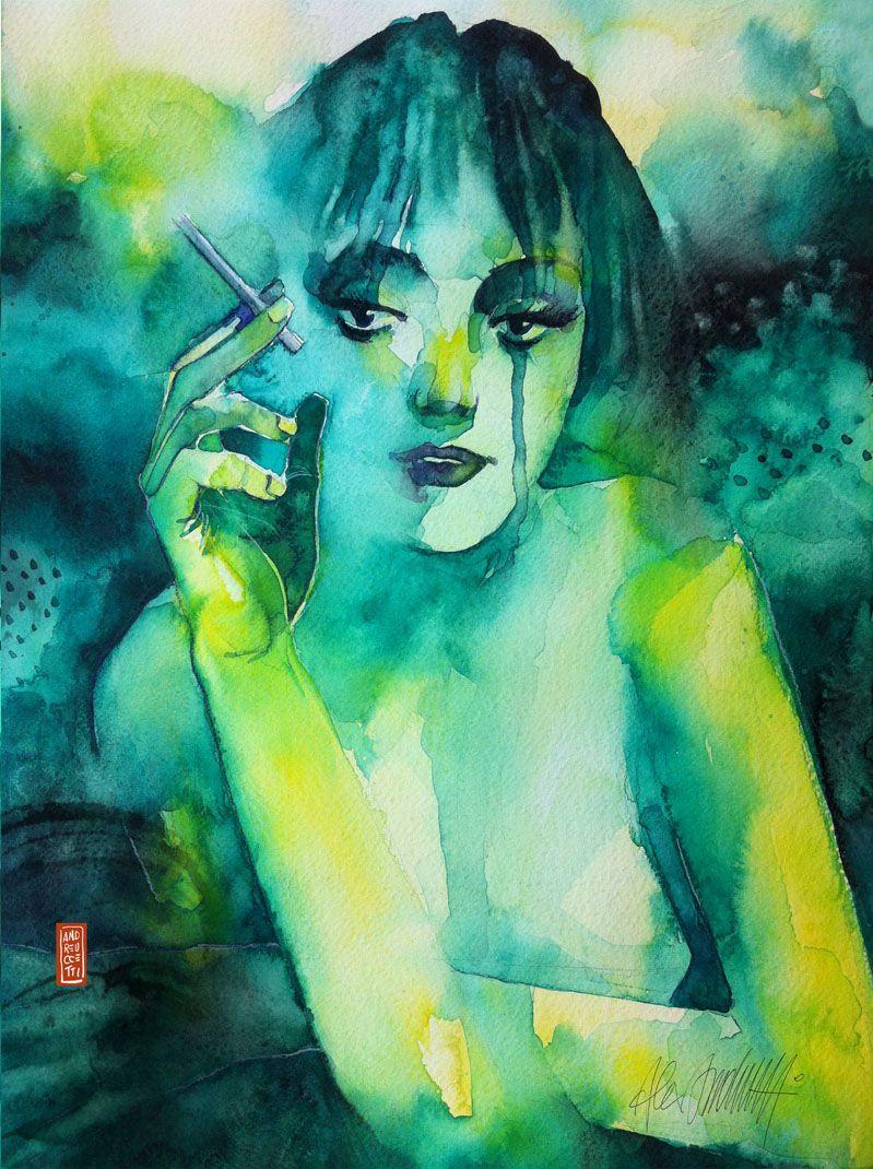 Smoking girl - Step 6