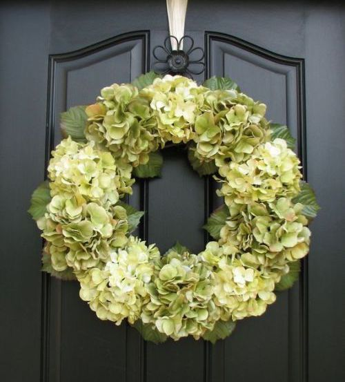 Spring wreath ideas how to make a hydrangea wreath Spring flower arrangements for front door