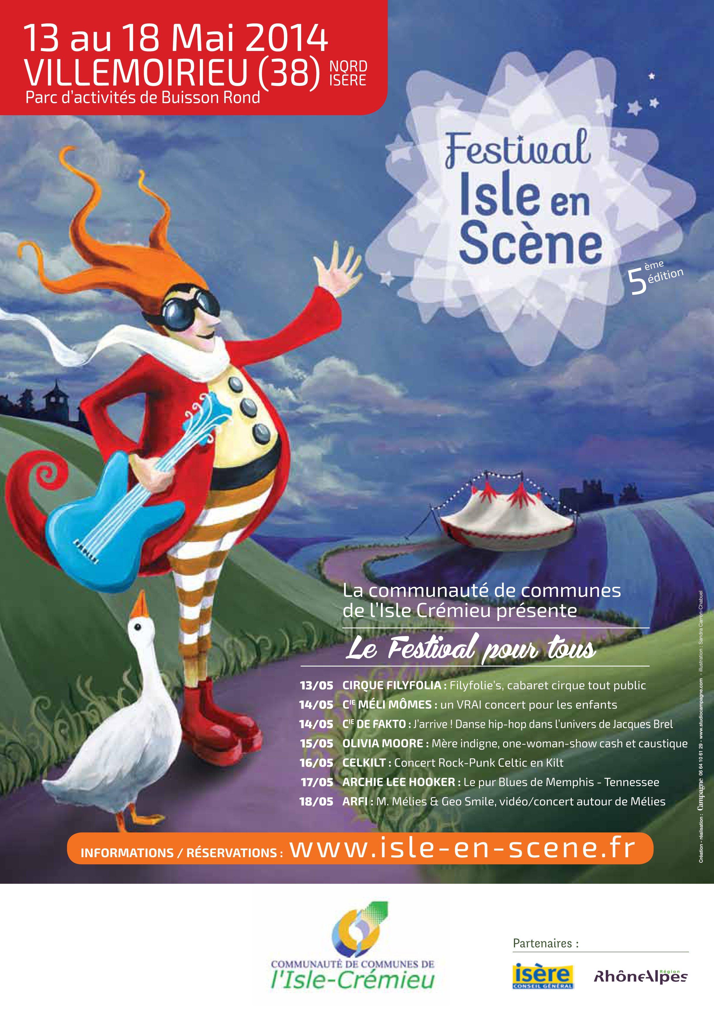Affiche Festival Isle-en-Scène 2014 par Studio Campagne