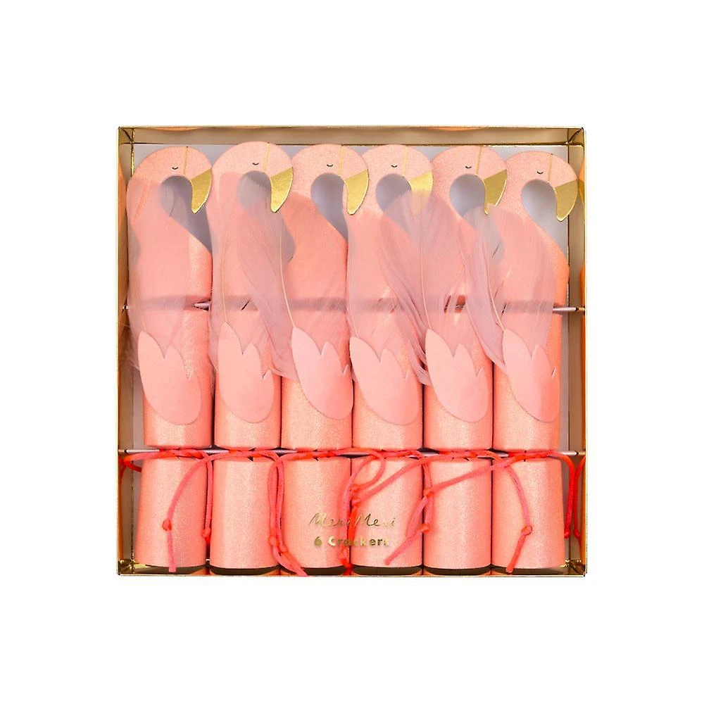 Pink Flamingo Party Favor Popper Christmas Crackers Pink