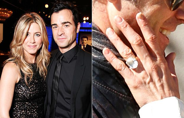 Jennifer Aniston S Engagement Ring A Big Photo For A Big Rock Celebrity Engagement Rings Jennifer Aniston Engagement