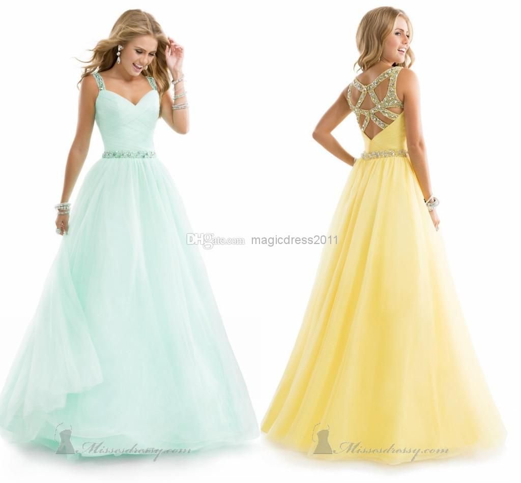Wholesale Prom Dresses - Buy 2014 Amazing Light Yellow Prom ...