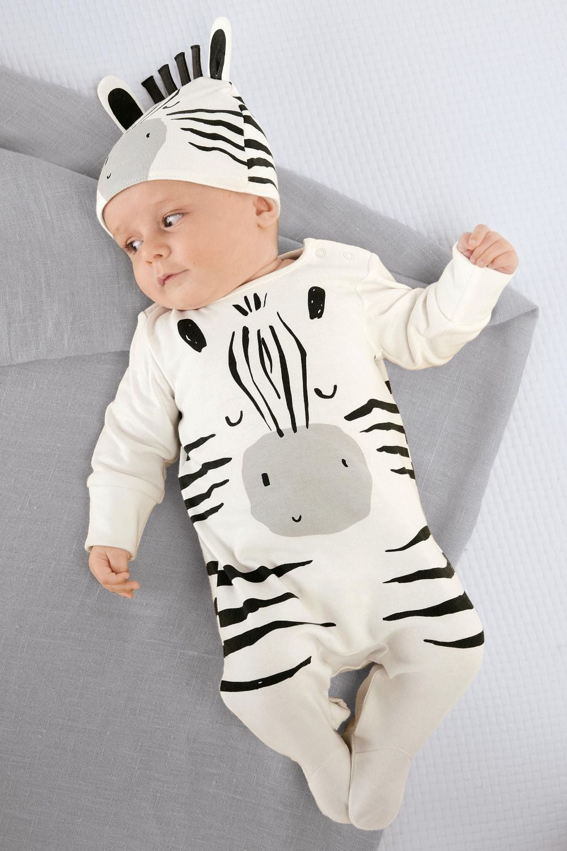 Winter Infant Baby Boys Girl Long Sleeve Floral Cartoon Fox Romper Pants+Hat Set