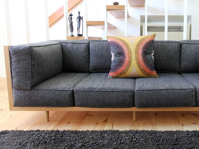 anonymous architects - design projects - big box couch - sofa - wood frame - douglas fir