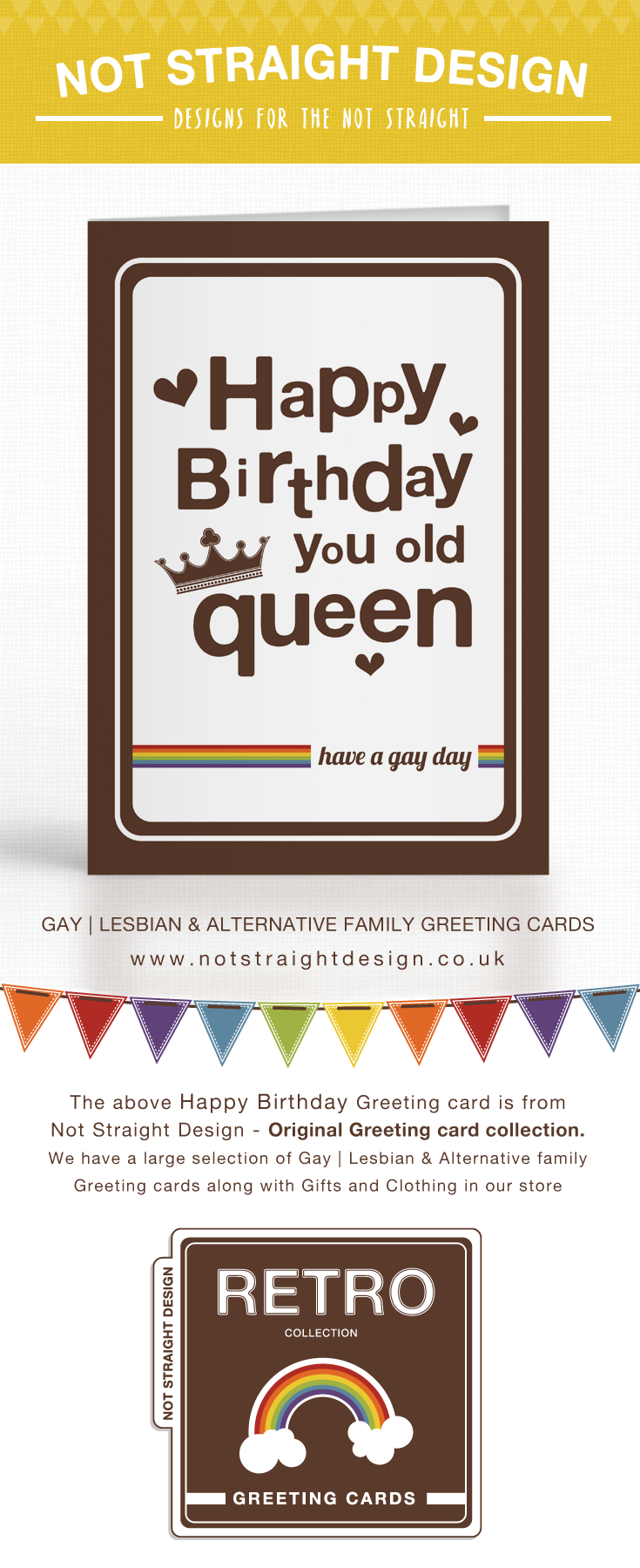 Happy Birthday You Old Queen Have A Gay Day Card Birthday Stuff
