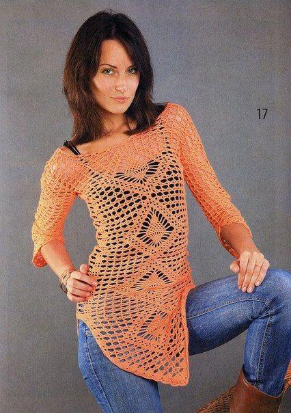 Mis Pasatiempos Amo el Crochet: Túnica punto fantasía   crochet ...