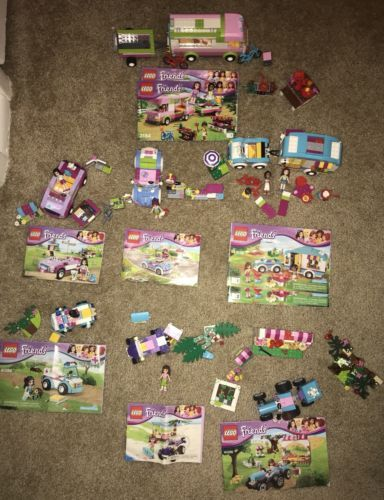 Lot Of 7 Lego Friends Vehicle Sets Complete W Instruction Manuals