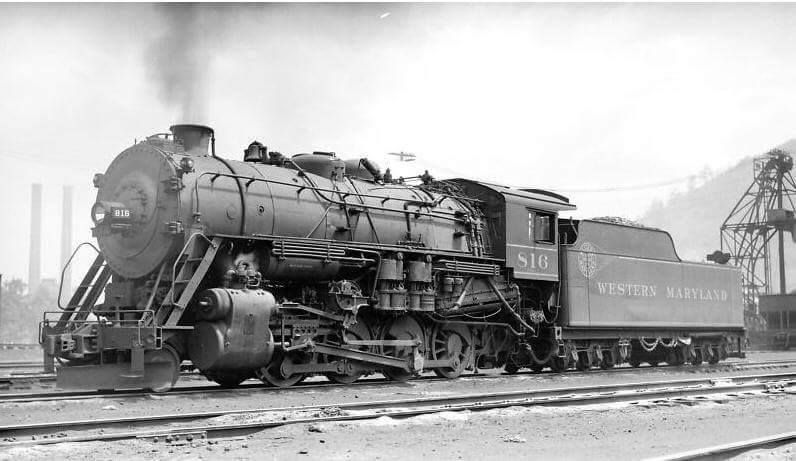 2 8 0 Consolidation Type Locomotives: Western Maryland Was Also Known For A Large Fleet Of 2-8-0