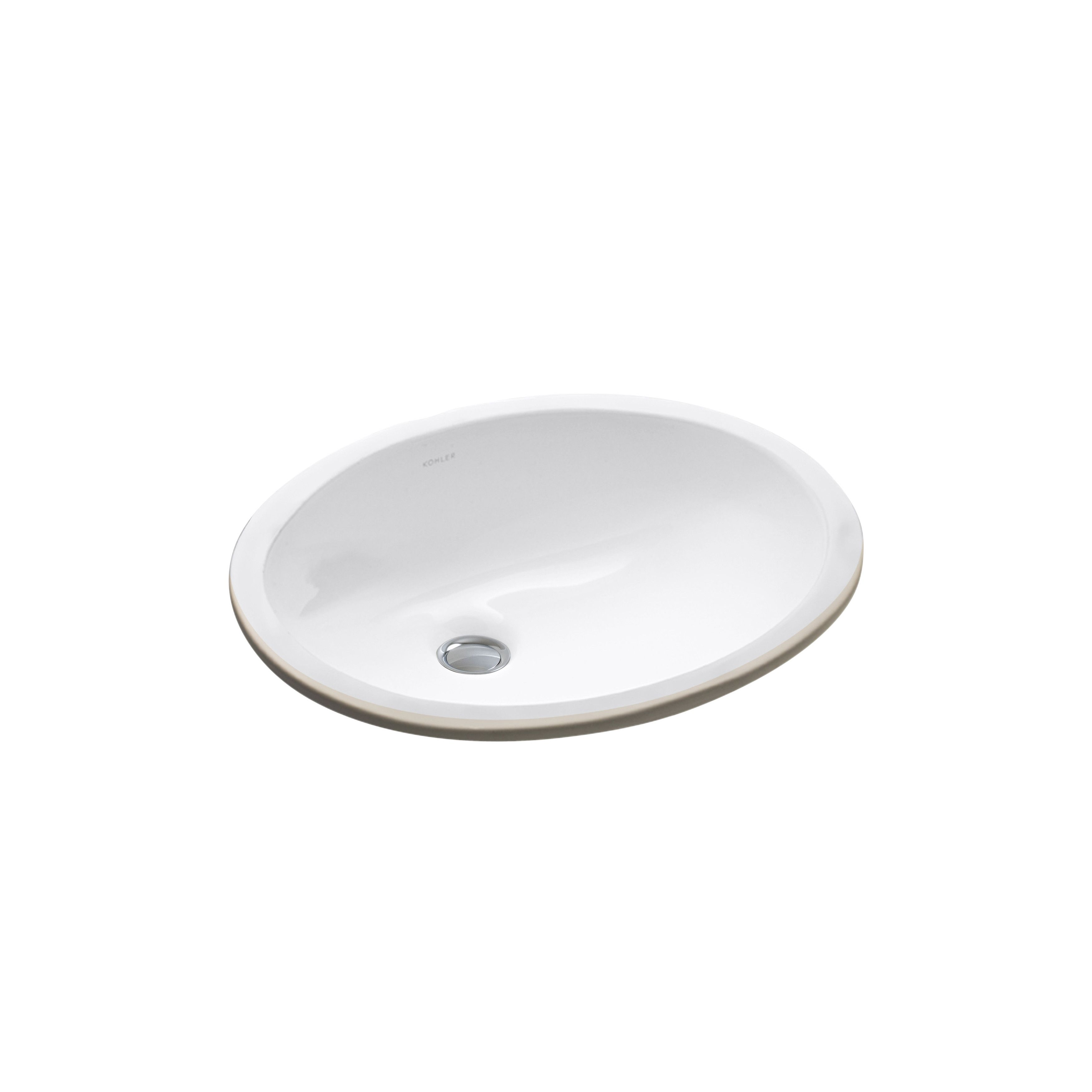 Caxton Ceramic Oval Undermount Bathroom Sink With Overflow Kids
