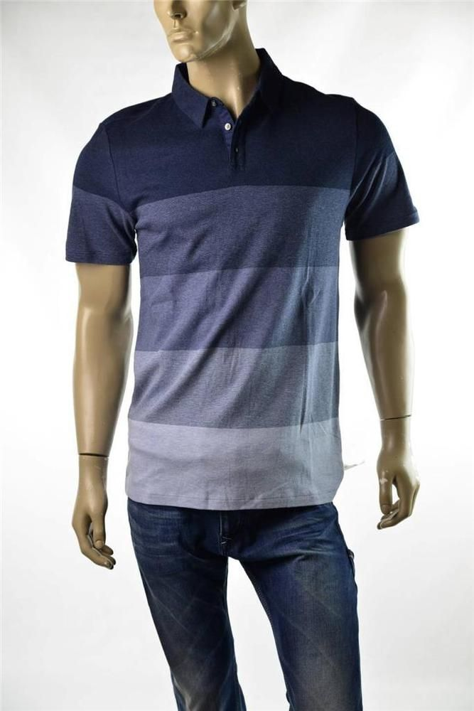 e4e89ed04656 Mens Shirt DKNY Polo Shirt 3 Button Blue Slim Fit S/S Shirts Sz M ...