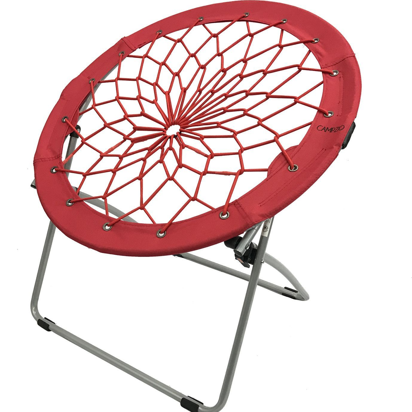 folding circle chairs real good chair copper campzio bungee round comfortable lightweight portable indoor outdoor camping sports event