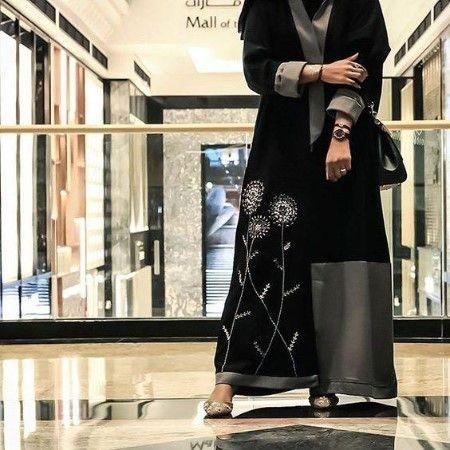 مدل مانتو طرح عبا بلند زنانه 2019 جدید Abaya Fashion Dubai Abaya Fashion Abaya