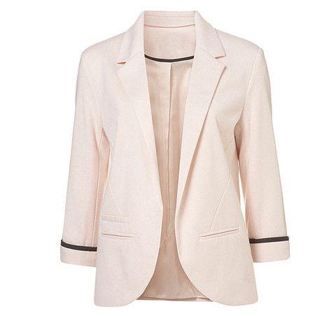 Blazer color rosa claro | Feminino, Jaqueta feminina