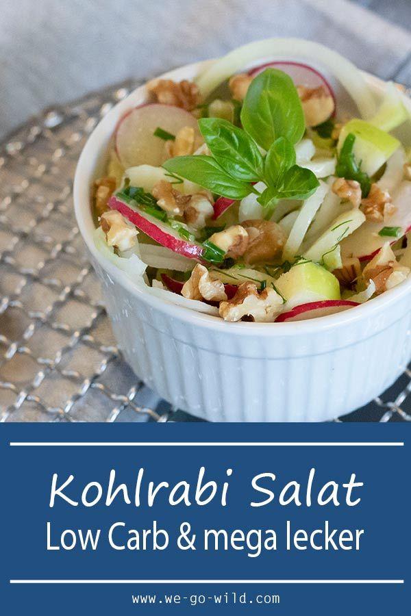 Kohlrabi Salat Low Carb mit Apfelstücken- WE GO WILD