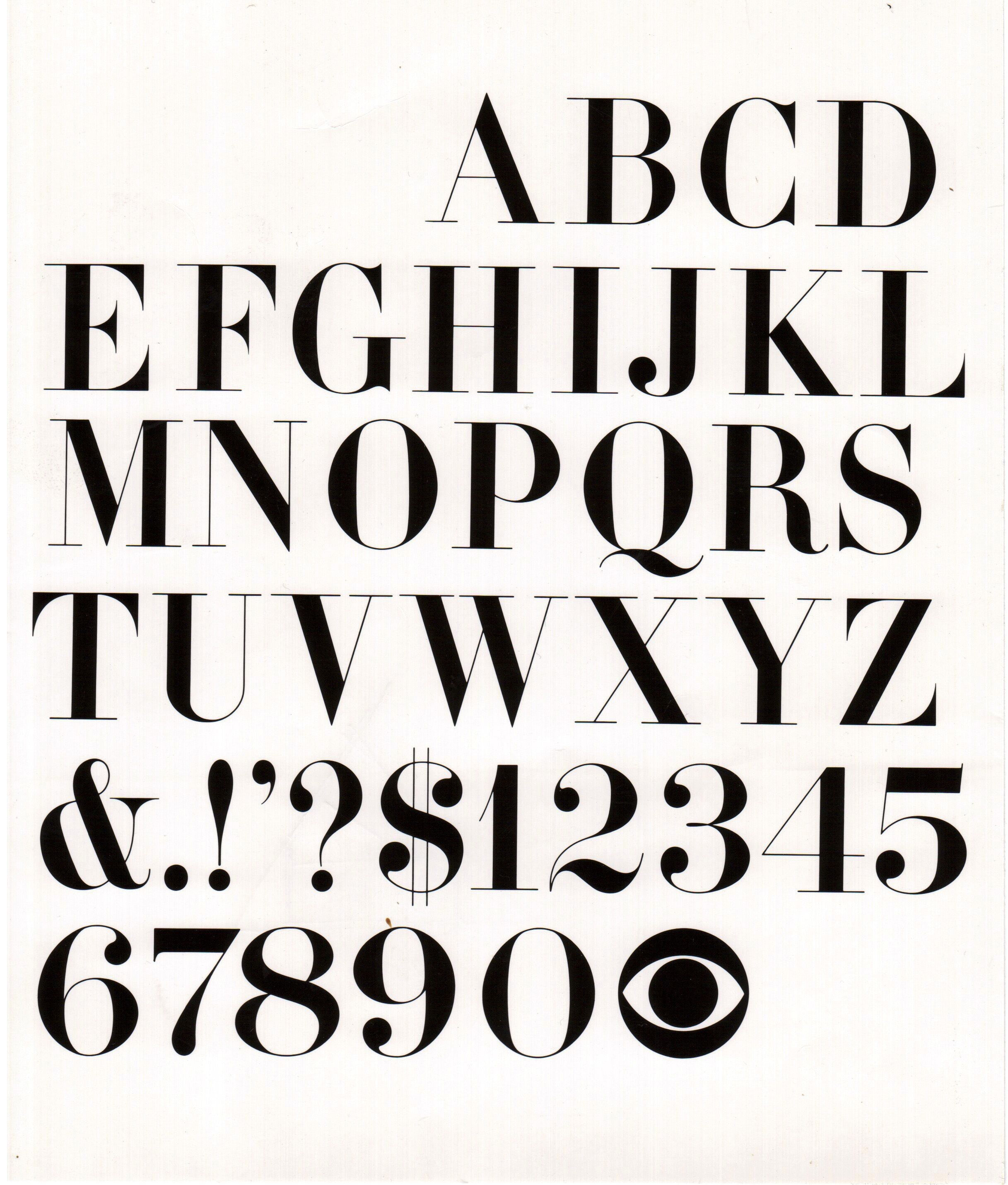 CBS Didot Font – Lou Dorfsman – Early 1960's | Fonts