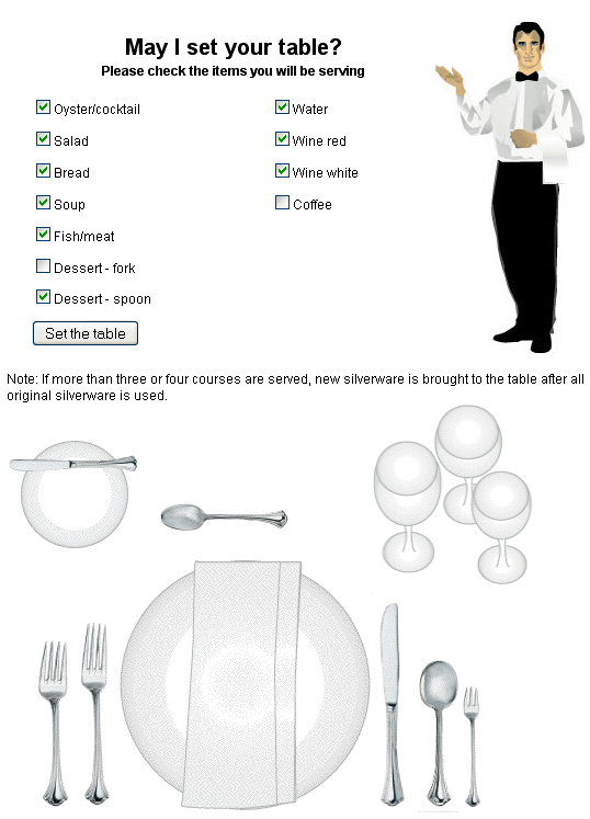 setup tableware learn how to set up a table