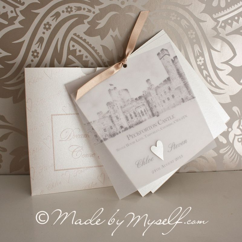 Peckforton Castle Wedding Invitation. | Made By Myself Wedding ...