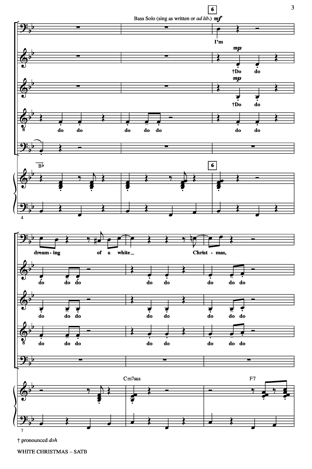Page 2 White Christmas (SATB ) arr. Audrey Snyder| J.W. Pepper Sheet ...