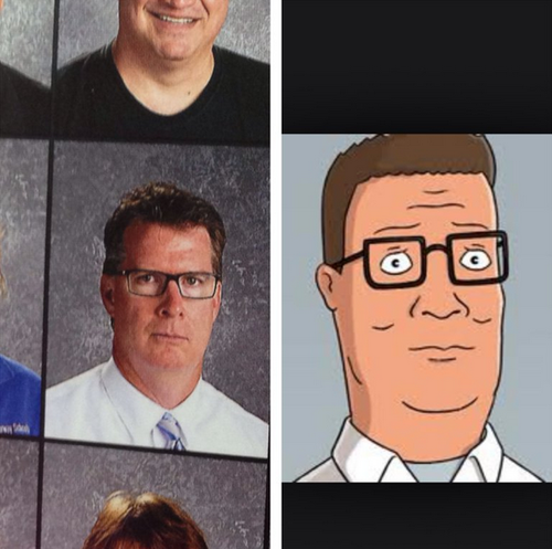 Omg Hank Hill In Real Life My Yearbook King Of The Hill Best Funny Pictures