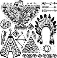 Indianer Cheyenne Indianische Piktogramme 0