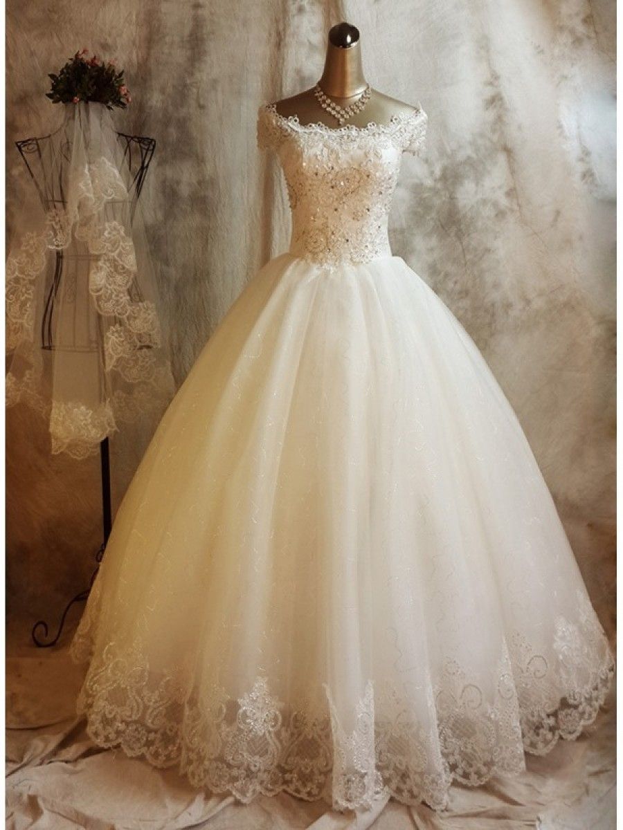 Ball gown offtheshoulder lace wedding dresses bridal gowns