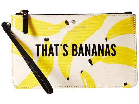 KATE SPADE Flights Of Fancy Thats Bananas Slim Bee. #katespade #bags #leather #hand bags #lining #cotton #