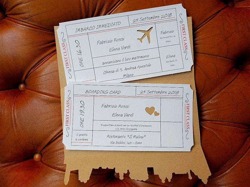 92 Partecipazione Invito Nozze Biglietto Aereo 03 Biglietti Aerei Festa A Tema Viaggio Matrimoni A Tema Viaggio