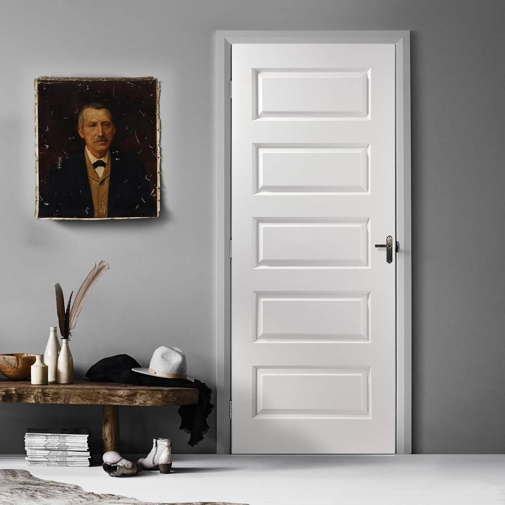 Textured Contemporary Door White Primed Internal Doors White