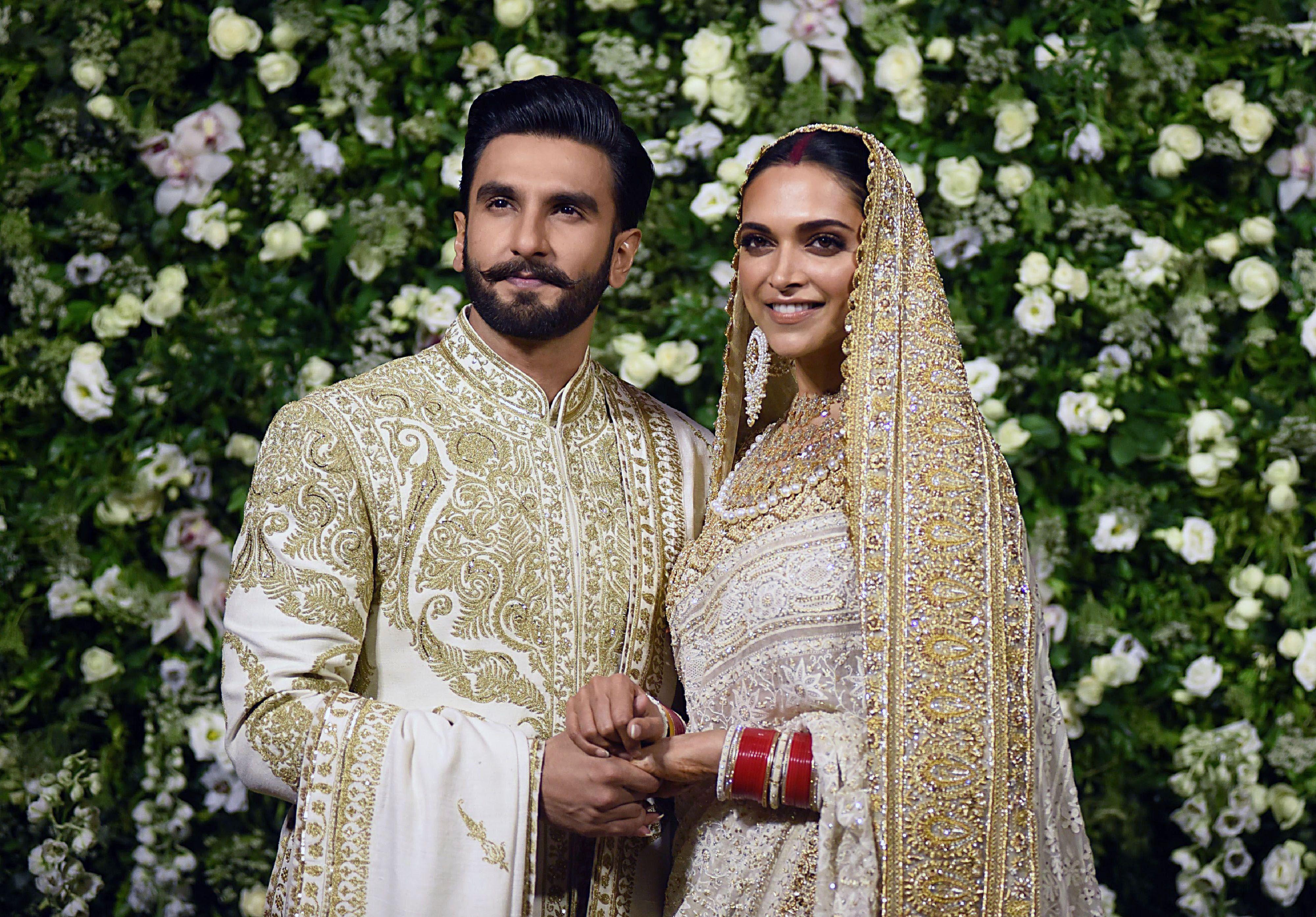 Pin by PreeVik on lehenga bridal   Ranveer singh, Celebrities, Deepika  padukone