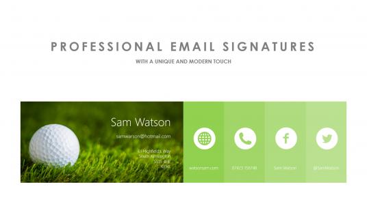 pro email signature | Email Signature Inspiration | Pinterest ...