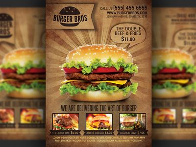 burger-fast-food-promotion-flyer-templatejpg (400×300) Food - food flyer template