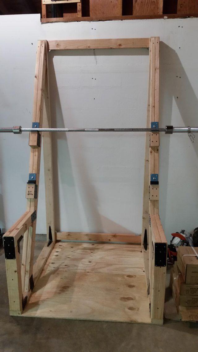 Diy Squat Rack Diy Home Gym Gym Rack Squat Rack