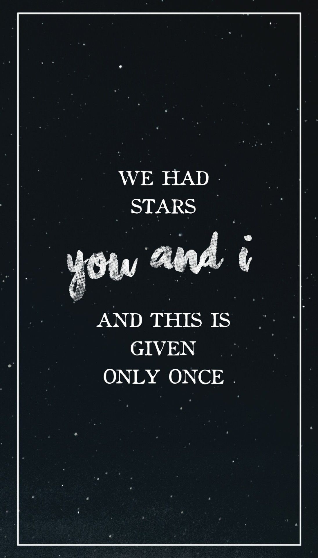 Image result for we had the stars you and i