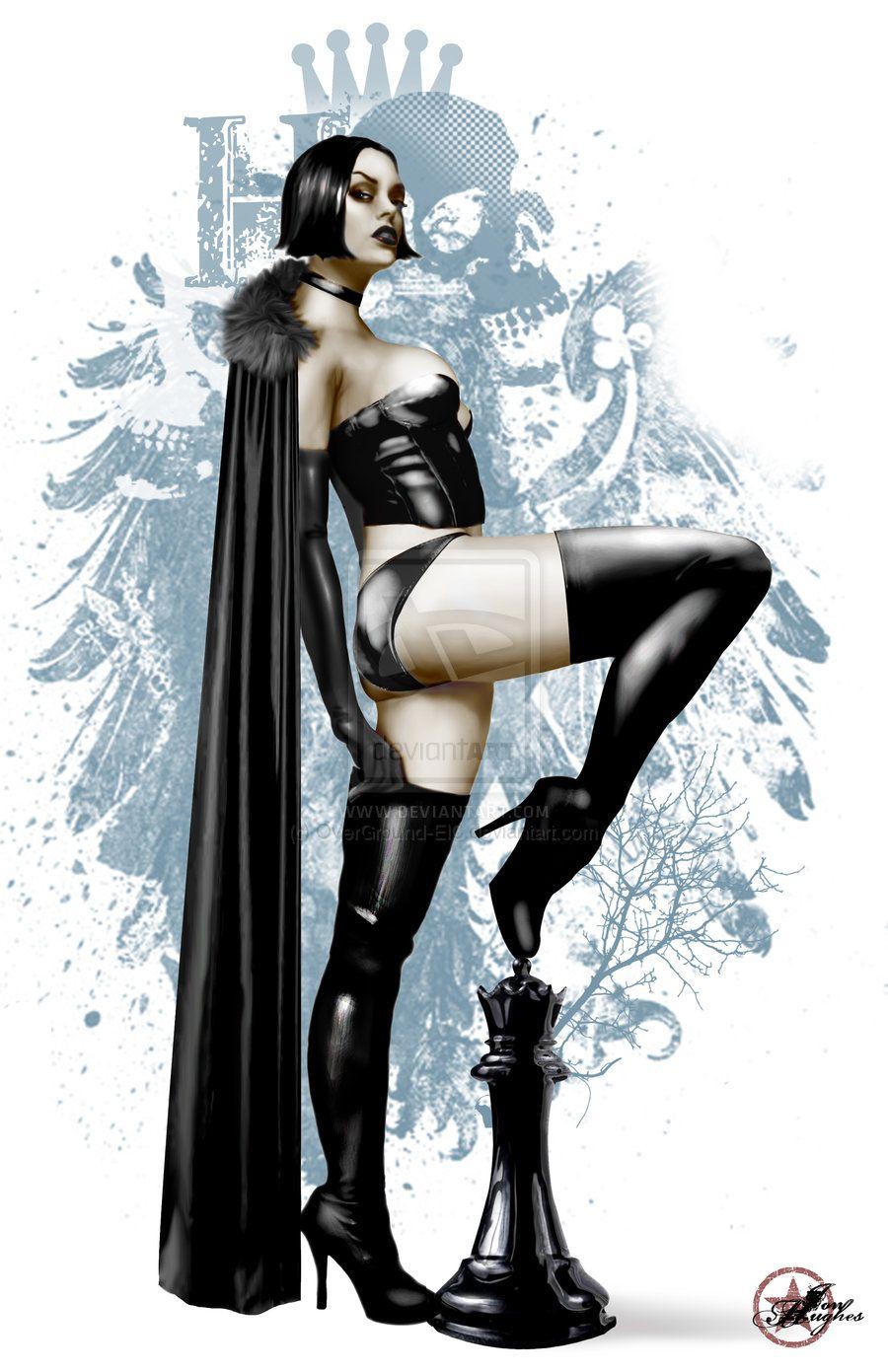 The Black Queen of the HC by JonHughes.deviantart.com on @deviantART