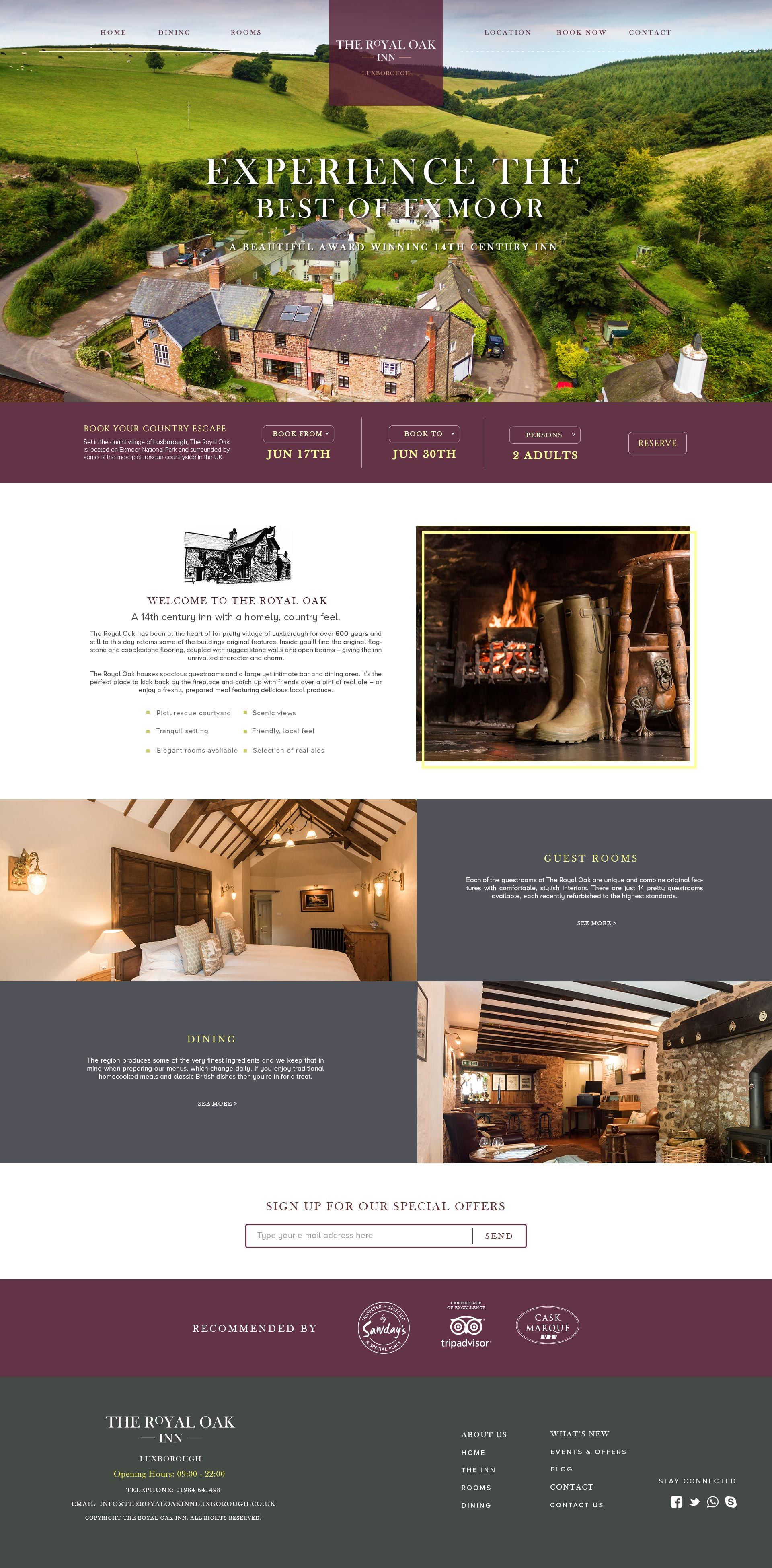 Hospitality Website Design - User Interface | Interface