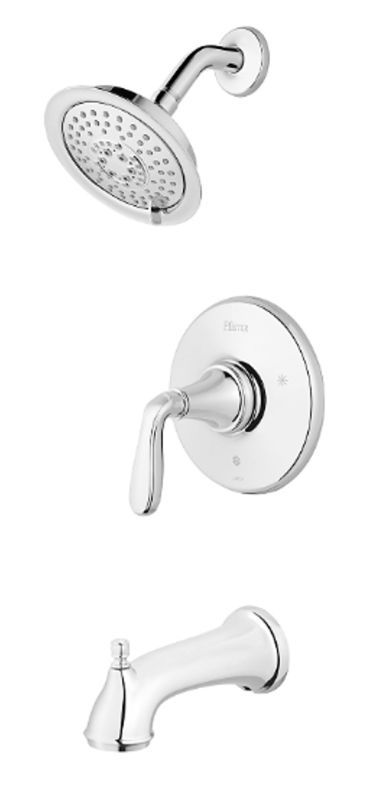 Pfister LG89-8MG Northcott Pressure Balancing Tub and Shower Faucet with Multi F Chrome Faucet Tub and Shower Single Handle